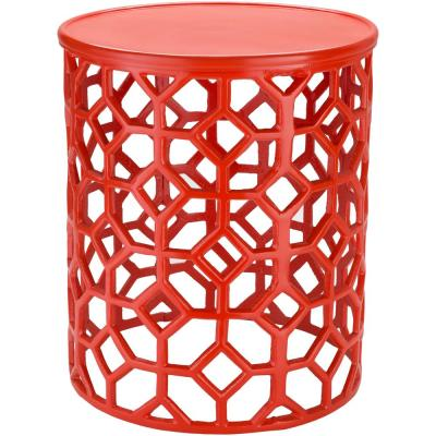 Athina Red Accent Table