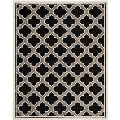Amherst Anthracite/Ivory 8 ft. x 10 ft. Indoor/Outdoor Area Rug