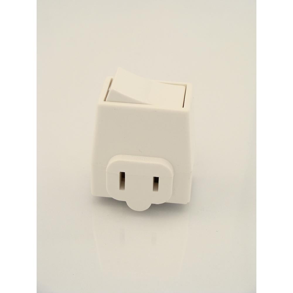leviton 13 amp plug in switch tap with on off switch ivory 1469 i rh homedepot com