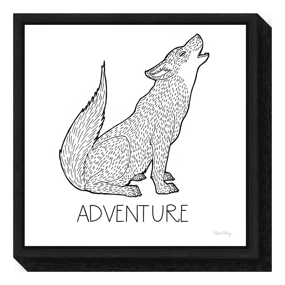 """Color the Forest VI Adventure"" by Elyse Deneige Framed Canvas Wall"