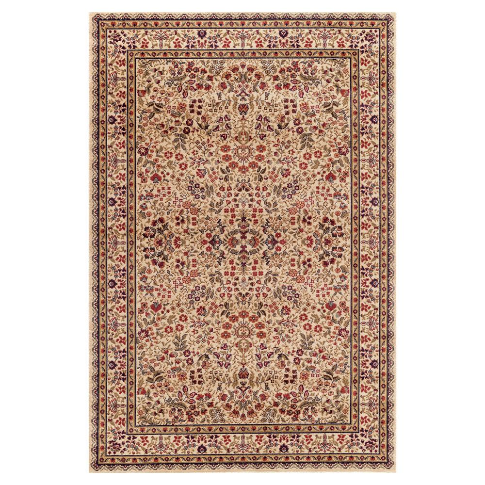 Concord Global Trading Jewel Sarouk Ivory 5 ft. 3 in. x 7 ft. 7 in. Area Rug