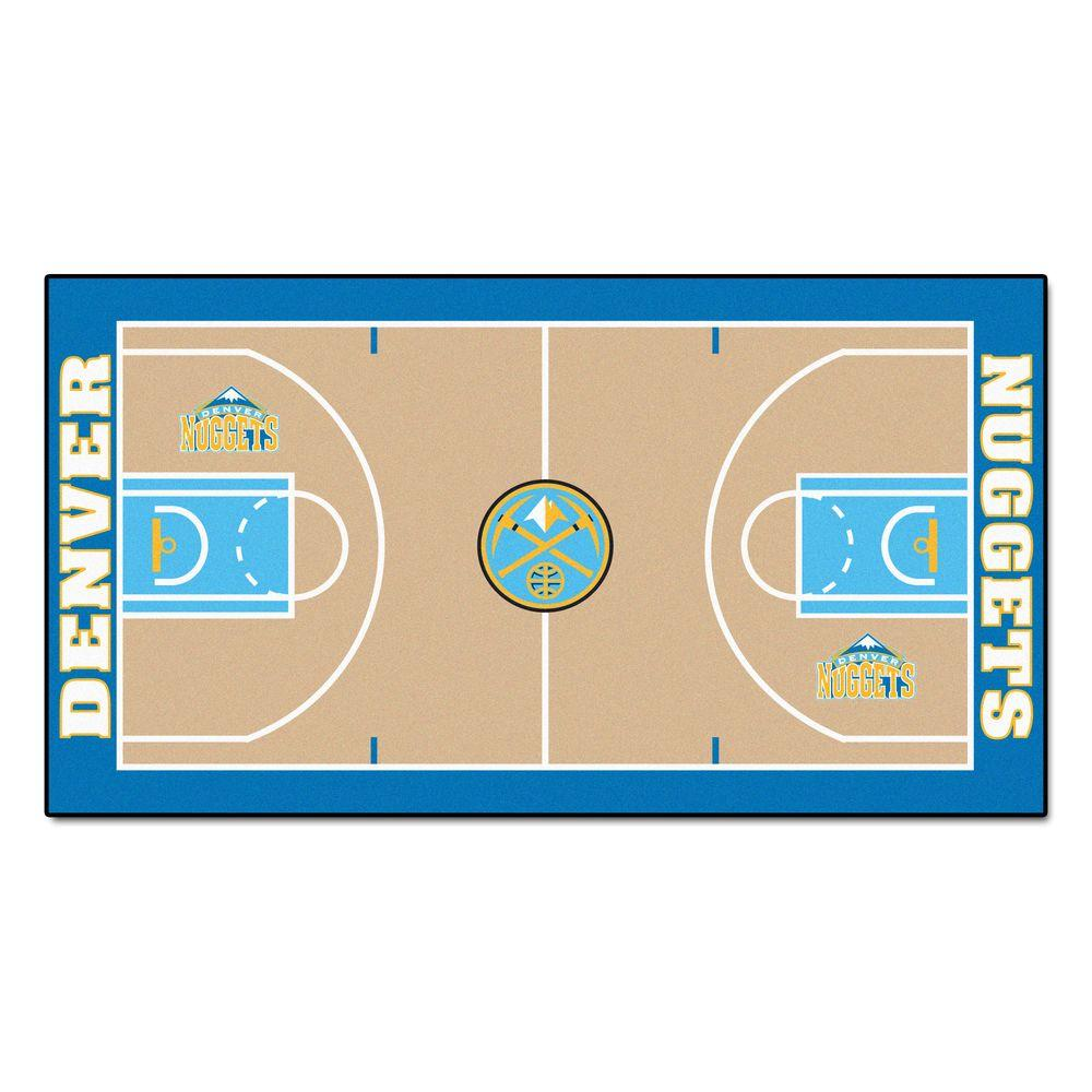 Nuggets X Clippers: FANMATS NBA Denver Nuggets 2 Ft. 6 In. X 4 Ft. 6 In. Large