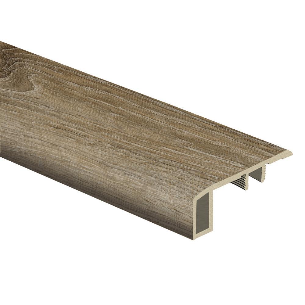 Woodacres Oak/Deerbrook Trail 7/16 in. Thick x 1-3/4 in. Wide x 72 in. Length Vinyl Carpet Reducer Molding