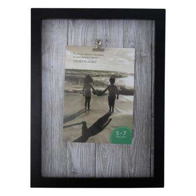 Northlight 5 In X 7 In Black And White Picture Frame With Clip For All Occasions New Year S Etc 33906207 The Home Depot