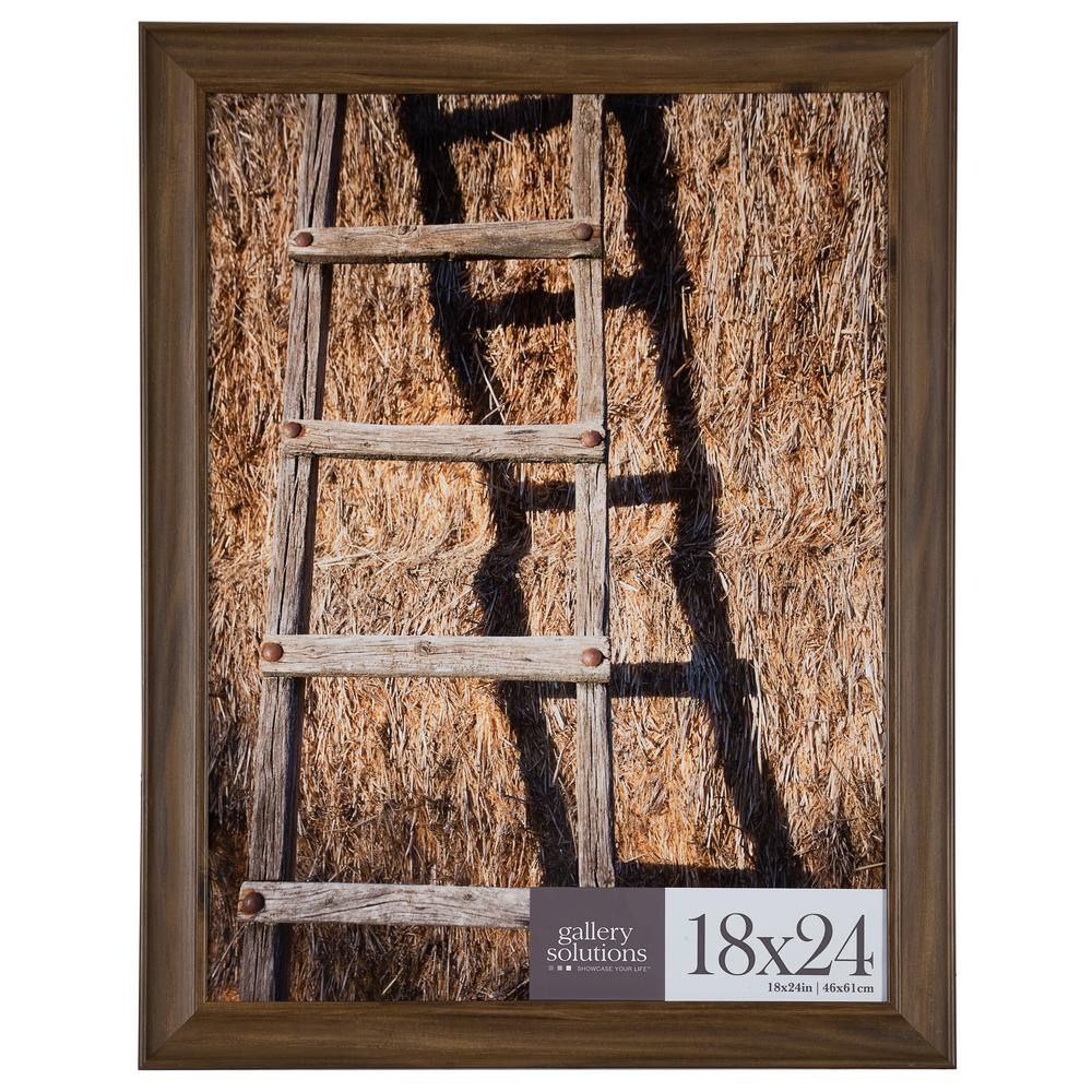 Pinnacle 18 in. x 24 in. Brown Poster Picture Frame-16FP2210 - The ...