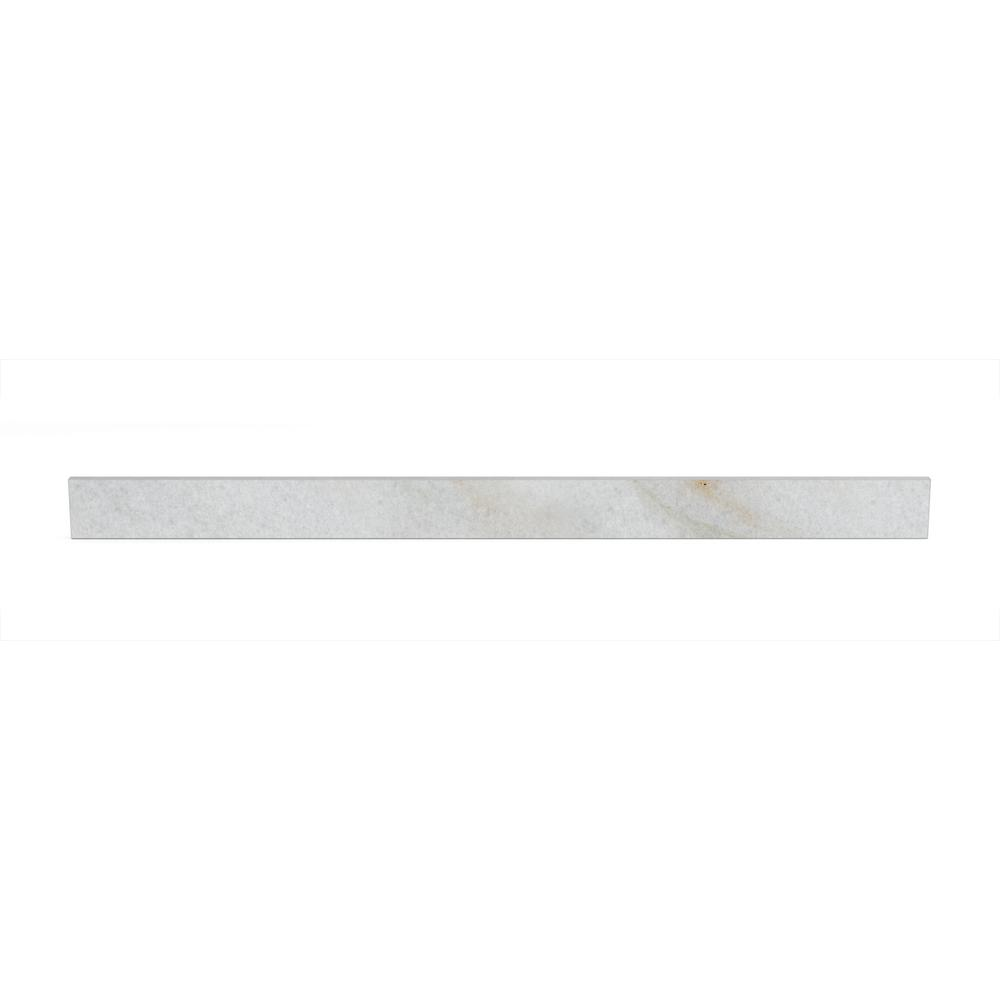 Home Decorators Collection Provence 55 in. Marbled Backsplash in White