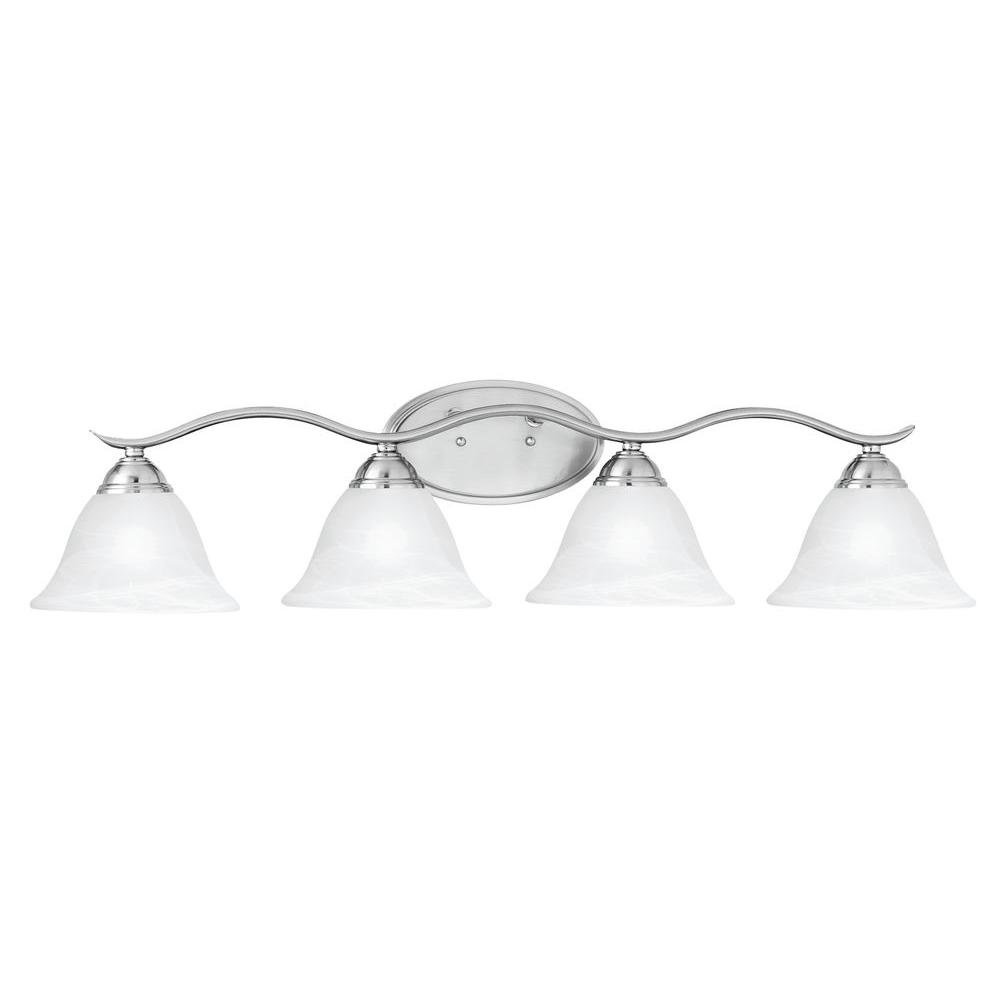 Thomas Lighting Prestige 4-Light Brushed Nickel Wall Vanity Light