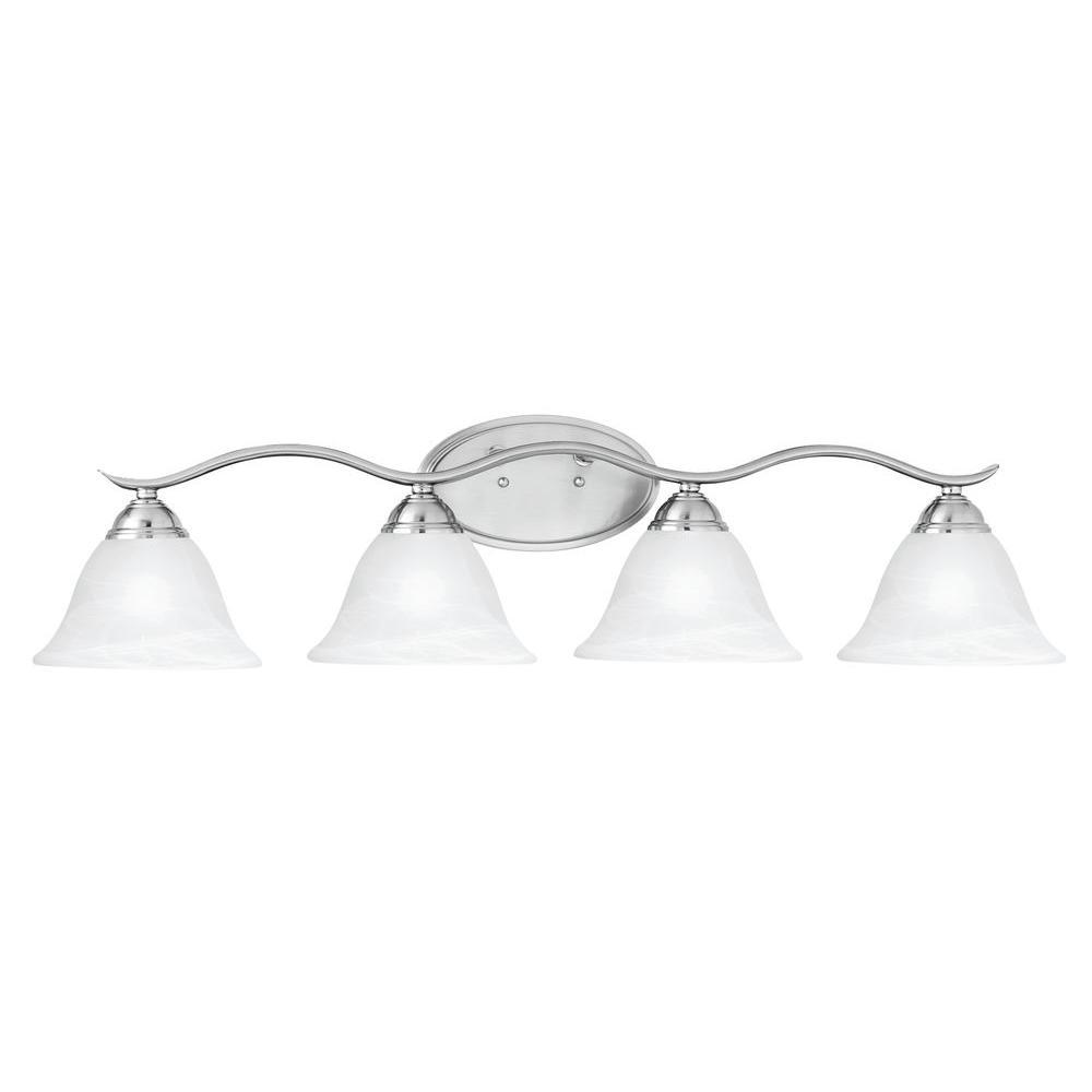 Prestige 4-Light Brushed Nickel Wall Vanity Light