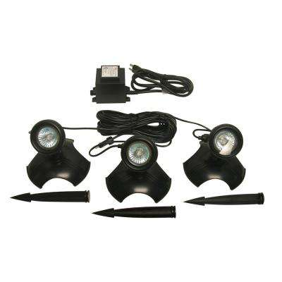 10-Watt Light with Transformer for Use in or Out of Water (Set of 3)