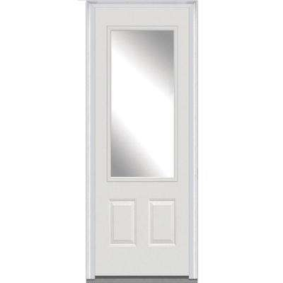 white 36 x 96 fiberglass doors front doors the home depot