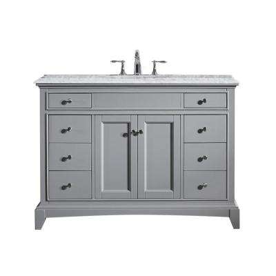 Stamford 42 in. W x 23.5 in. D Bath Vanity in Gray with Vanity Top in Gray with Gray Basin