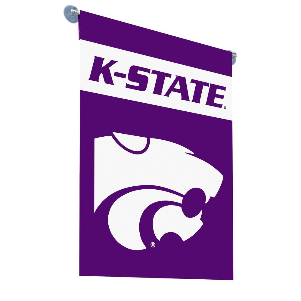 BSI Products NCAA Kansas State Wildcats 2-sided Garden 1 ft. x 1.5 ft. Flag with Pole #11213