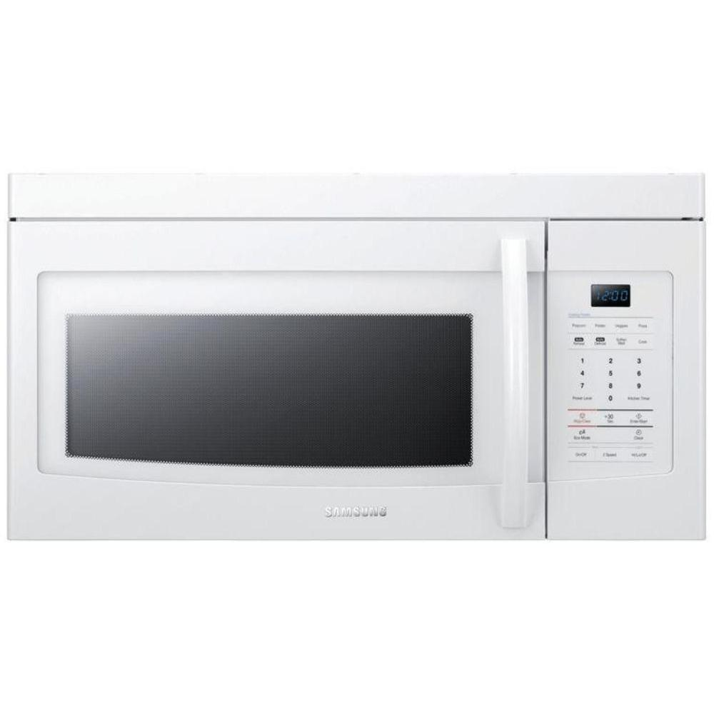 Samsung 1.6 cu. ft. Over the Range Microwave in White-DISCONTINUED