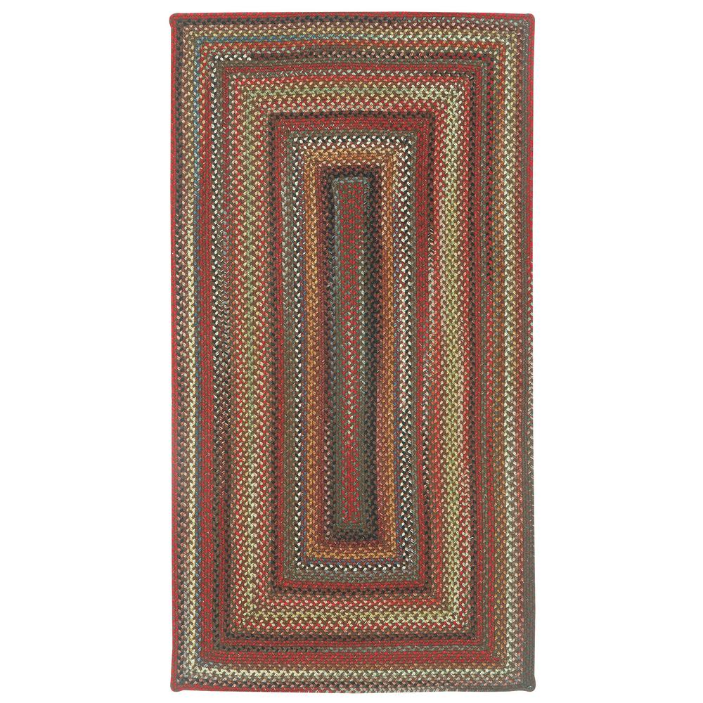 Capel Portland Brown 7 Ft X 9 Concentric Area Rug 0346qs07000900700 The Home Depot
