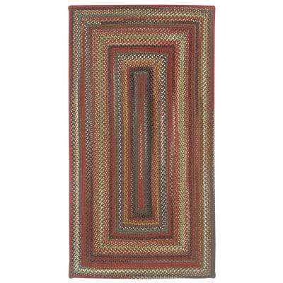 Portland Brown 7 ft. 6 in. x 7 ft. 6 in. Concentric Area Rug