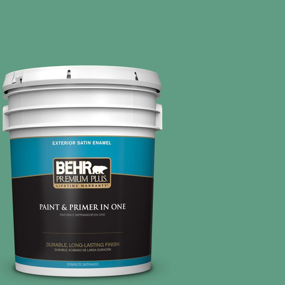 BEHR Premium Plus 5-gal. #480D-5 Scotch Lassie Satin Enamel Exterior Paint
