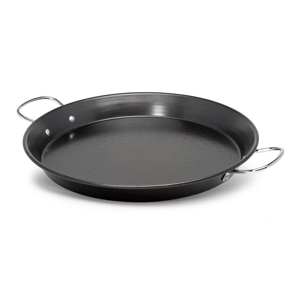 Sol 20 in. Steel Nonstick Grill Pan in Black