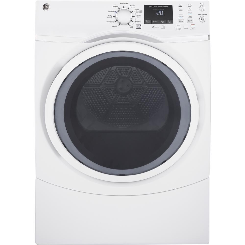 Samsung 7 5 cu  ft  Electric Dryer in White-DV42H5000EW