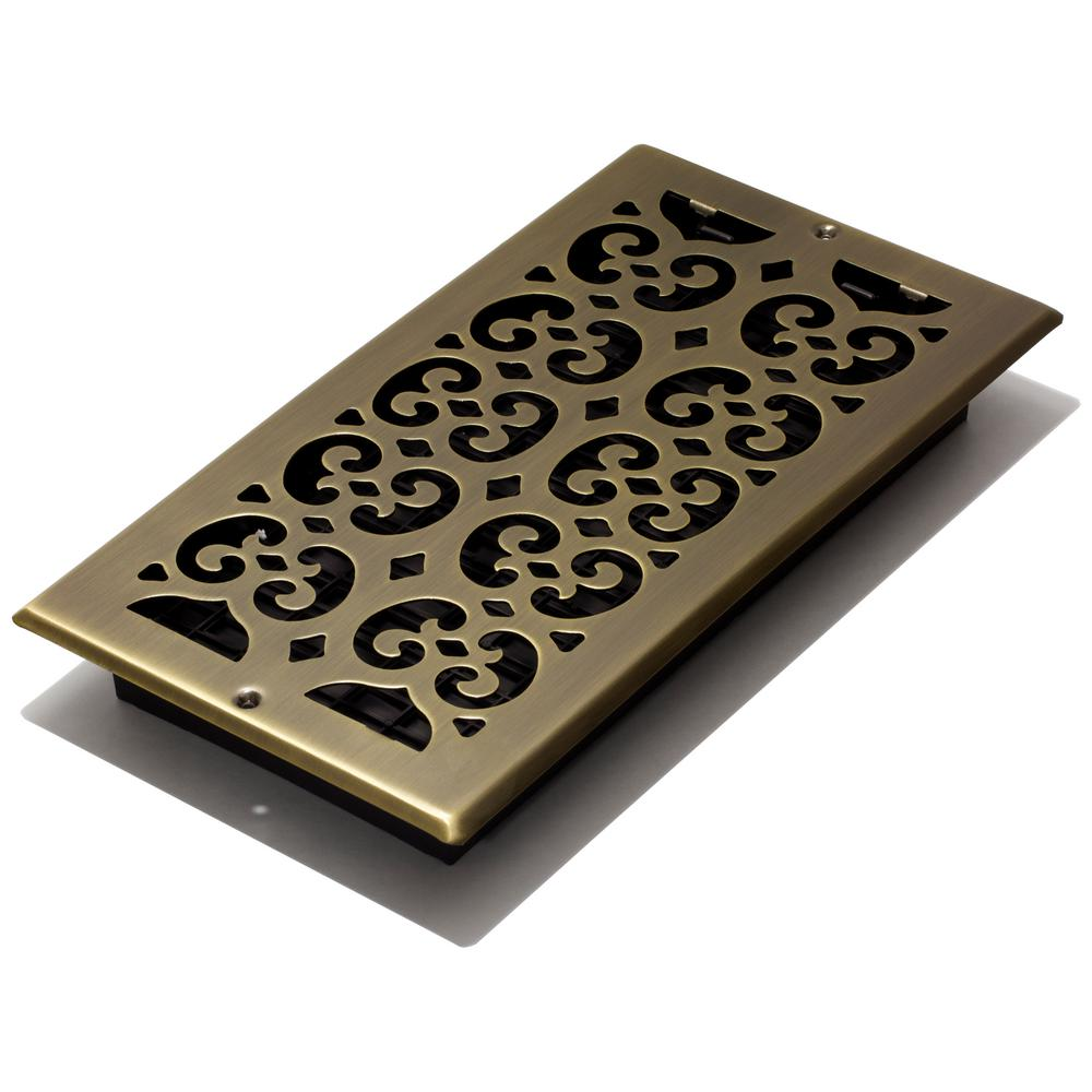 Antique Br Plated Steel Scroll Wall