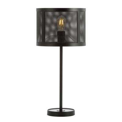 Wilcox 25 in. Black Minimalist Metal LED Table Lamp