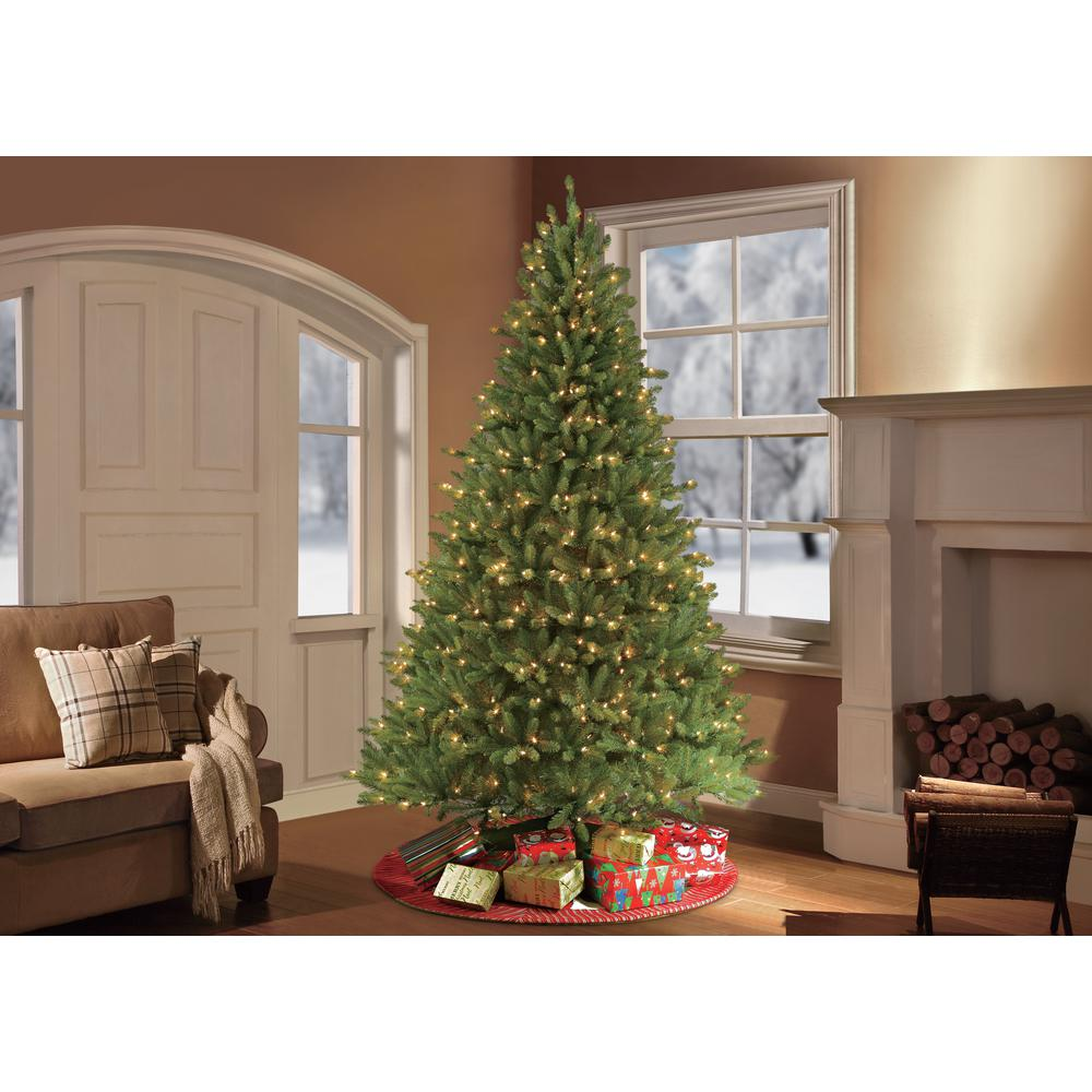 9 ftpre lit fraser fir artificial christmas tree with 1000 clear lights - 9 Pre Lit Christmas Tree