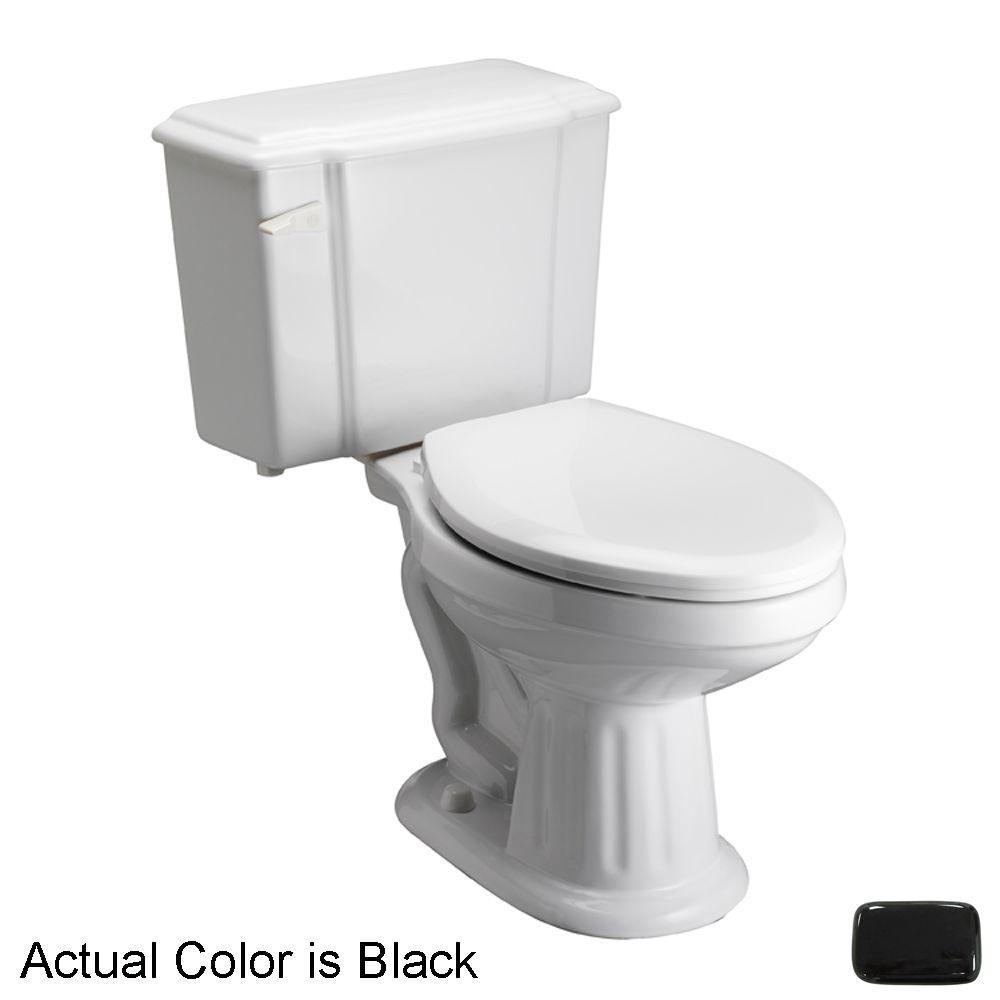 Pegasus Vicki 2-Piece 1.6 GPF Elongated Toilet in Black