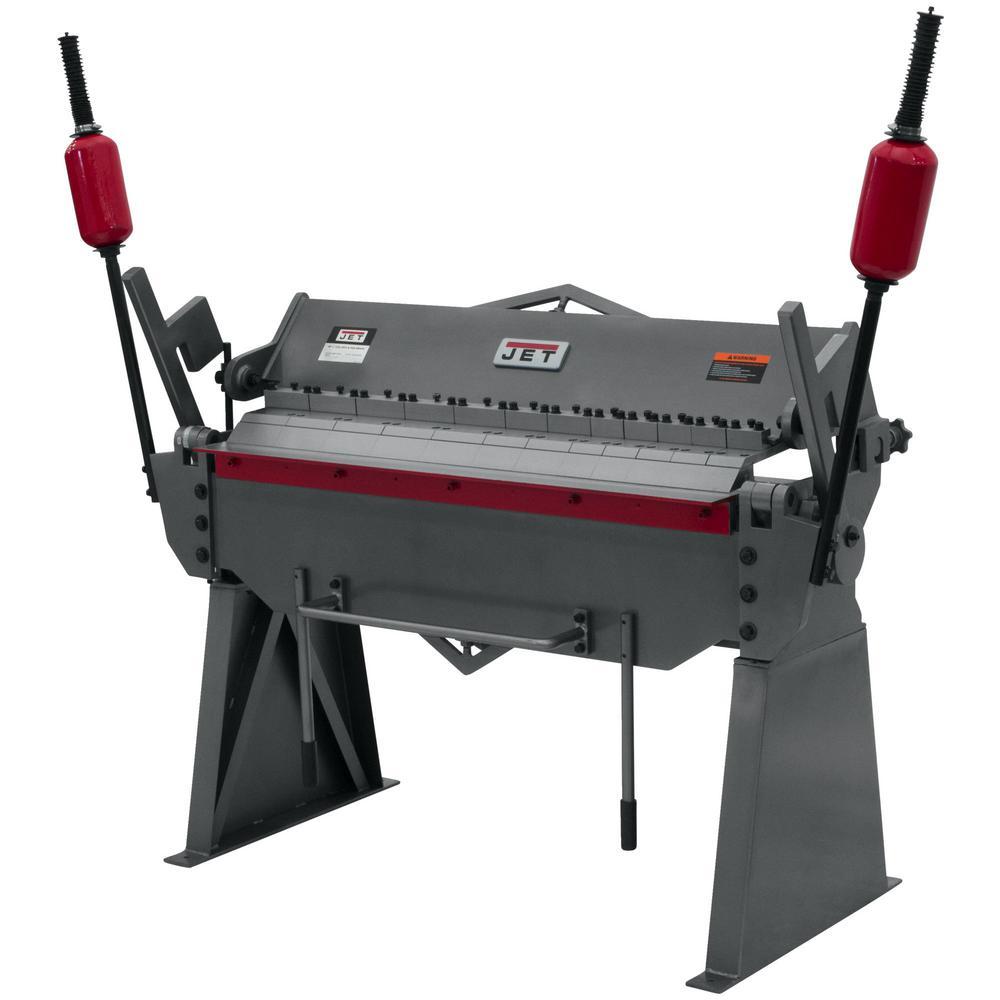 JET BPF-1248 48 in. x 12-Gauge Floor Model Box and Pan Brake