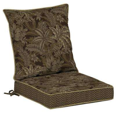 Palmetto Espresso 2-Piece Outdoor Lounge Chair Cushion