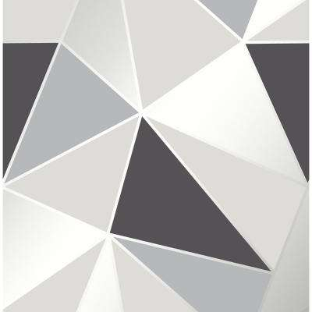 56.4 sq. ft. Arken Black Geometric Wallpaper