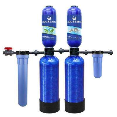 5-Stage 600,000 Gal. Whole House Water Filtration System with Simply Soft Salt-Free Water Softener
