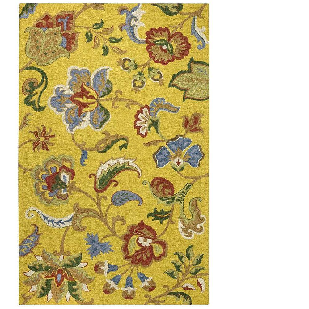 Home Decorators Collection Chintz Daffodil 8 Ft X 10 Ft