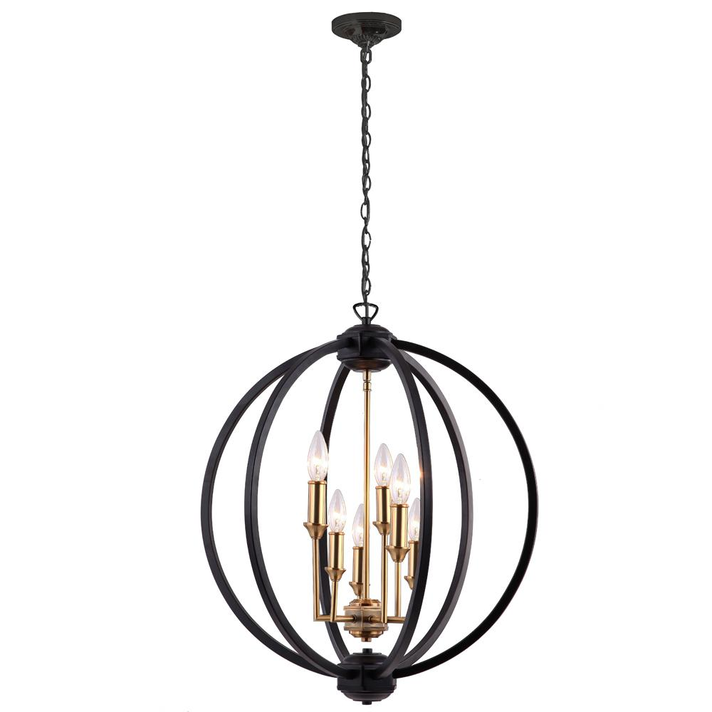filament design 6-light matte black chandelier-cli-dn024617