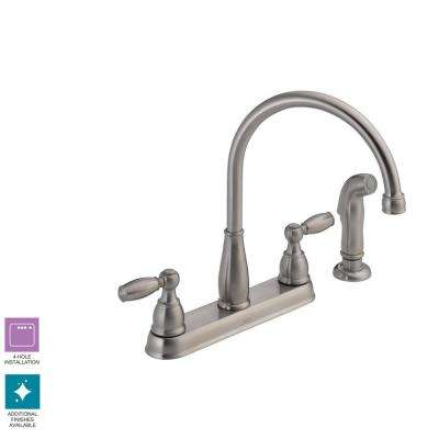 Stainless Steel 4 Hole Kitchen Faucets Kitchen The Home Depot