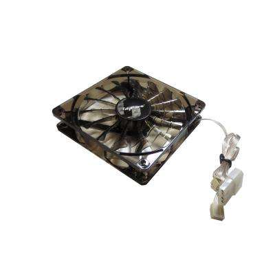 140 mm Black 2-Ball Bearing PWM 12-Volt DC Fan in Black