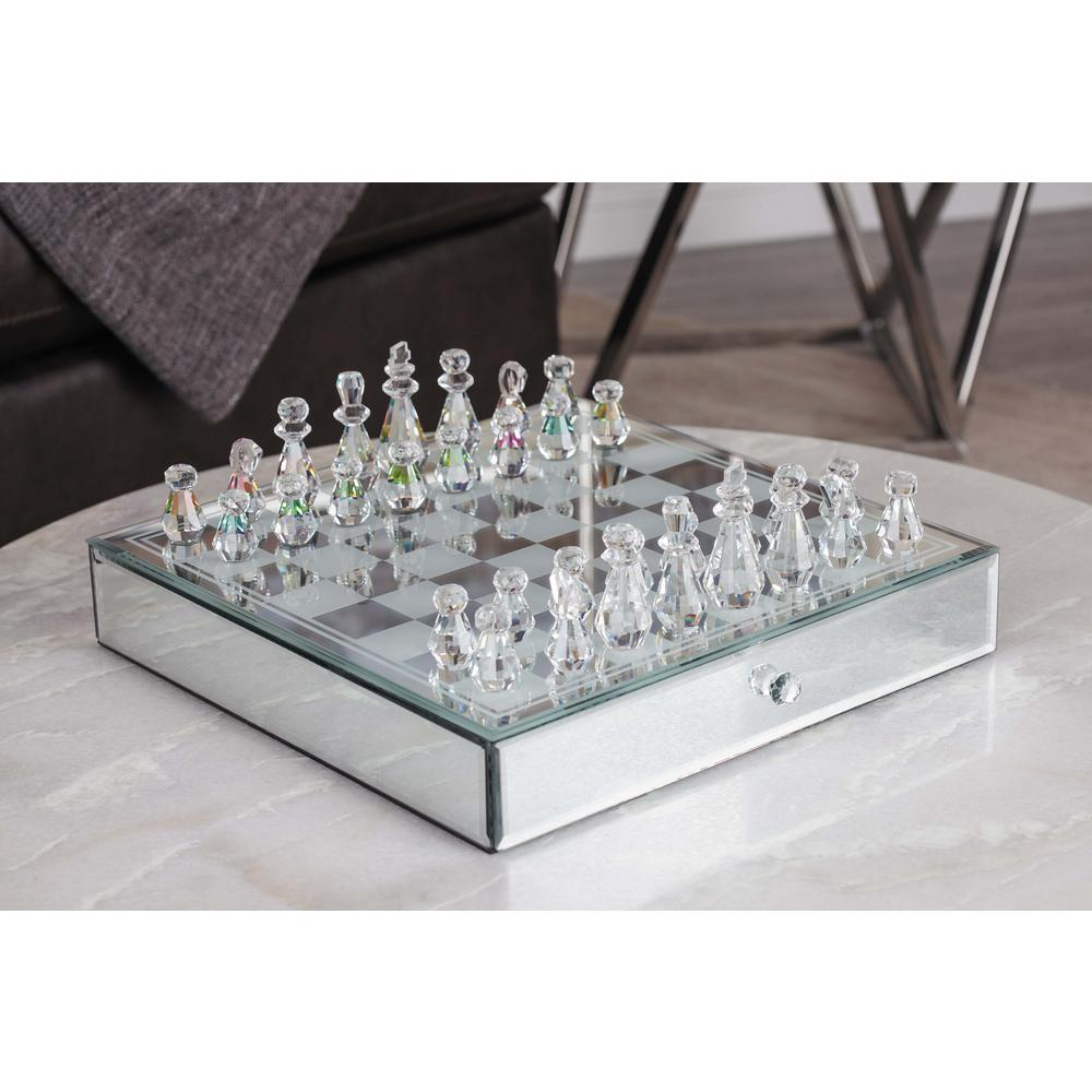 Modern Elegance Crystal Chess Set
