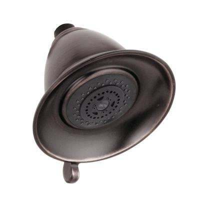 Victorian 3-Spray 5-1/2 in. Touch-Clean Shower Head in Venetian Bronze