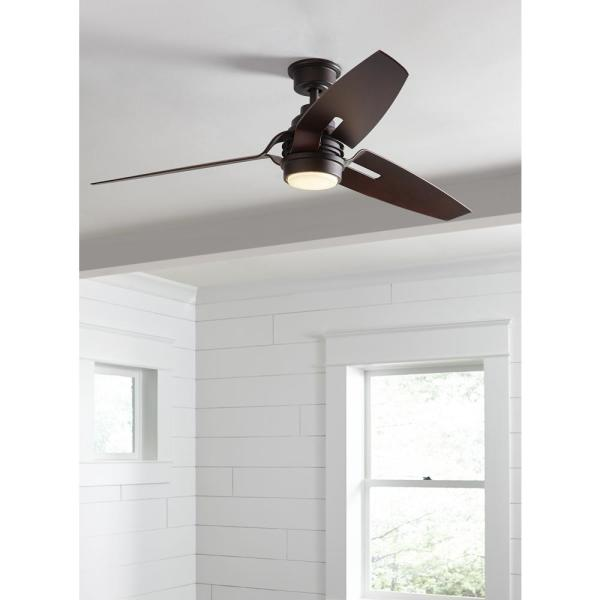 Home Decorators Collection Iron Crest 60 In Led Dc Motor Indoor Espresso Bronze Ceiling Fan With Light Kit And Remote Control Am489 Eb The Home Depot
