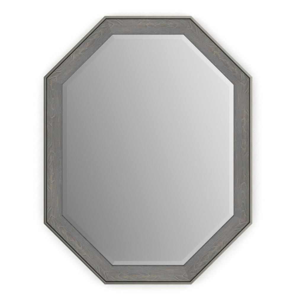 26 in. x 34 in. (M2) Octagonal Framed Mirror with Deluxe