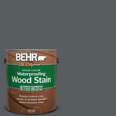 1 gal. #N500-6 Graphic Charcoal Solid Color Waterproofing Wood Stain