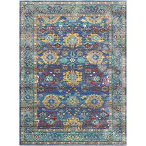 Nourison Delmar Blue 10 Ft X 13 Ft Area Rug 386946 The