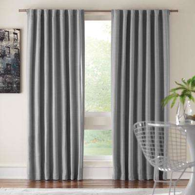 e89c02942 Room Darkening Window Panel in Gray - 54 in. W x 84 in. L
