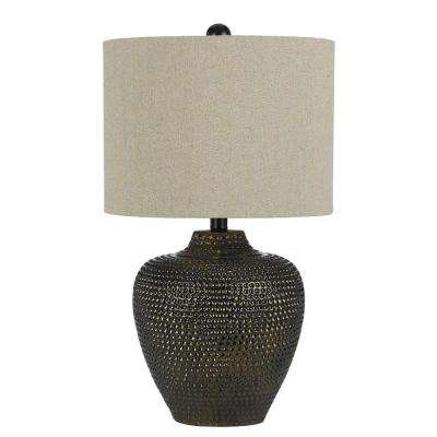Danbury 22.5 in. Brown Ceramic Table Lamp