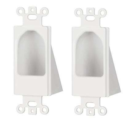 1-Gang Recessed Decor Insert, White (2-Pack)
