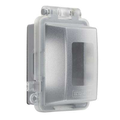 1-Gang Deep Extra Duty Non-Metallic While-In-Use Weatherproof Horizontal/Vertical Receptacle Cover, Clear
