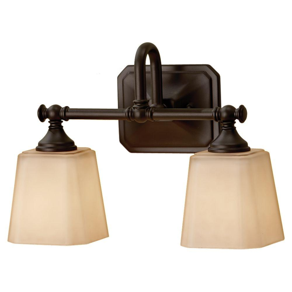 Feiss concord 2 light oil rubbed bronze vanity light - Bathroom lighting oil rubbed bronze ...
