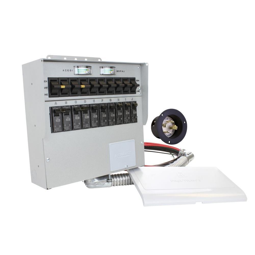 30 Amp 10-Circuit Manual Transfer Switch
