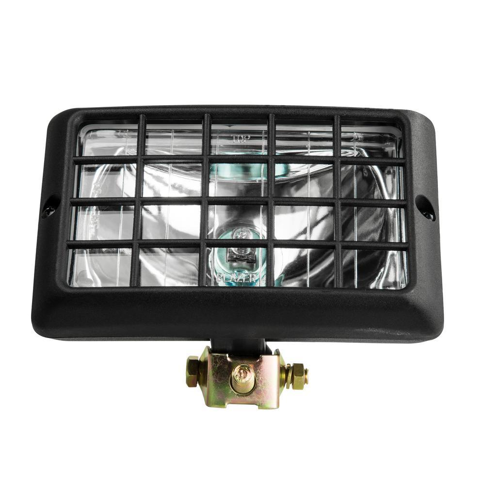 Blazer International 12-Volt H3-55W Halogen Spot Light Beam Rectangular Clear Tractor Light