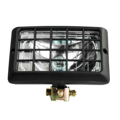 12-Volt H3-55W Halogen Spot Light Beam Rectangular Clear Tractor Light