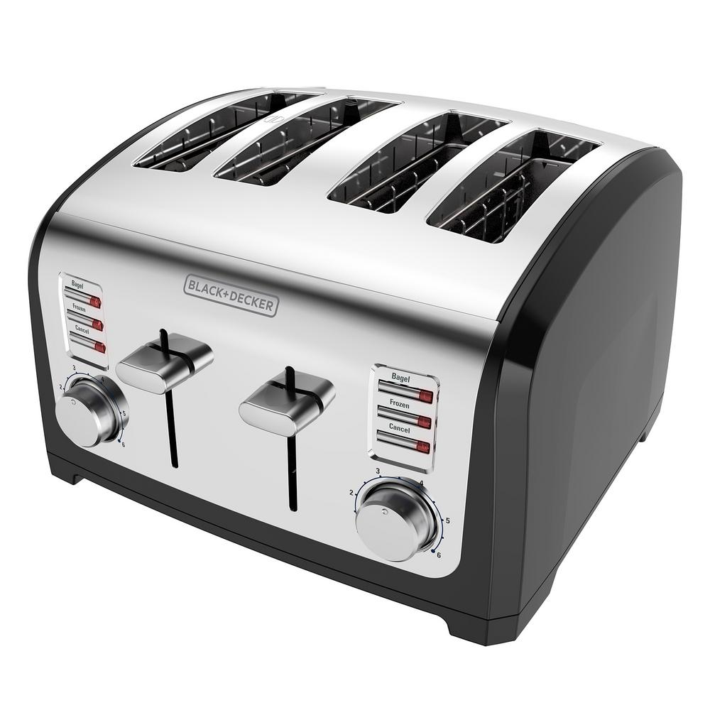 4-Slice Stainless Steel Extra Wide Toaster