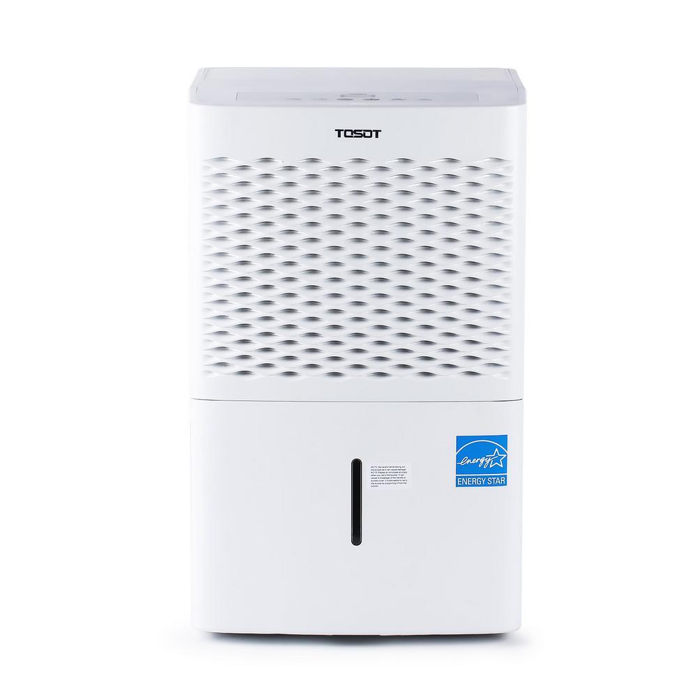 Tosot 50-Pint Capacity w/ Internal Pump 4,500 sq. ft. Energy Star Dehumidifier for Home, Basement